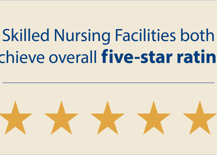 Episcopal Homes Skilled Nursing Facilities both  achieve overall five-star rating for quarter