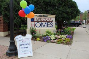 Entrance Sign for Episcopal Homes Job Fair